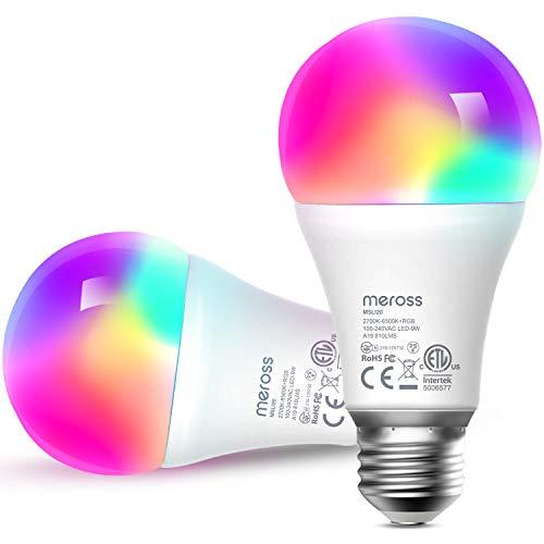 Pack 2 Bombillas LED 9W Alexa y Google (Meross)