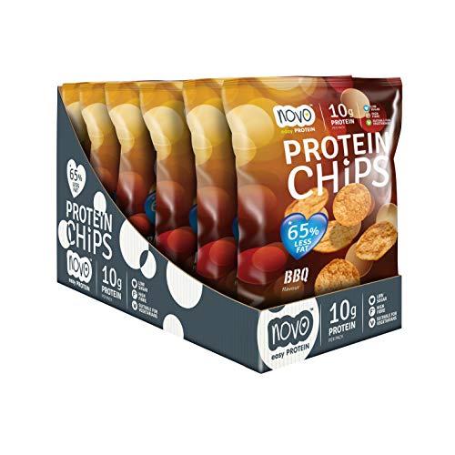 Novo Nutrition Protein Chips BBQ, 6 x 30g