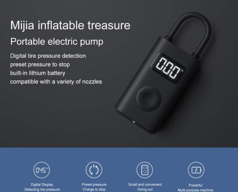 Inflador Digital Xiaomi Mijia MI Portable Air Pump