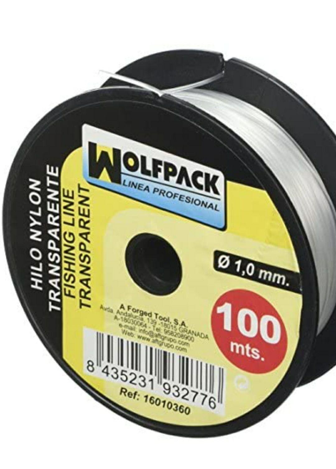 WOLFPACK LINEA PROFESIONAL 16010360 Hilo Nylon Transparente 1.0 mm. Rollo 100 m