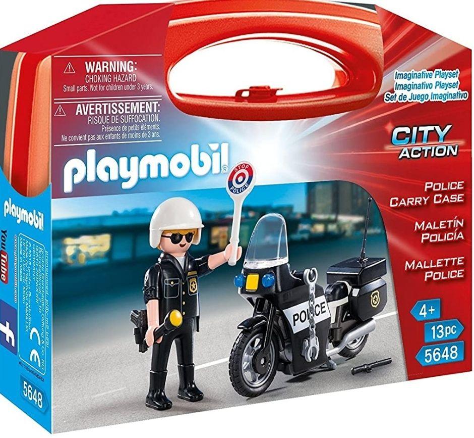 PLAYMOBIL Policía- Caso de Transporte de la Policía Figuras de Juguete, Multicolor