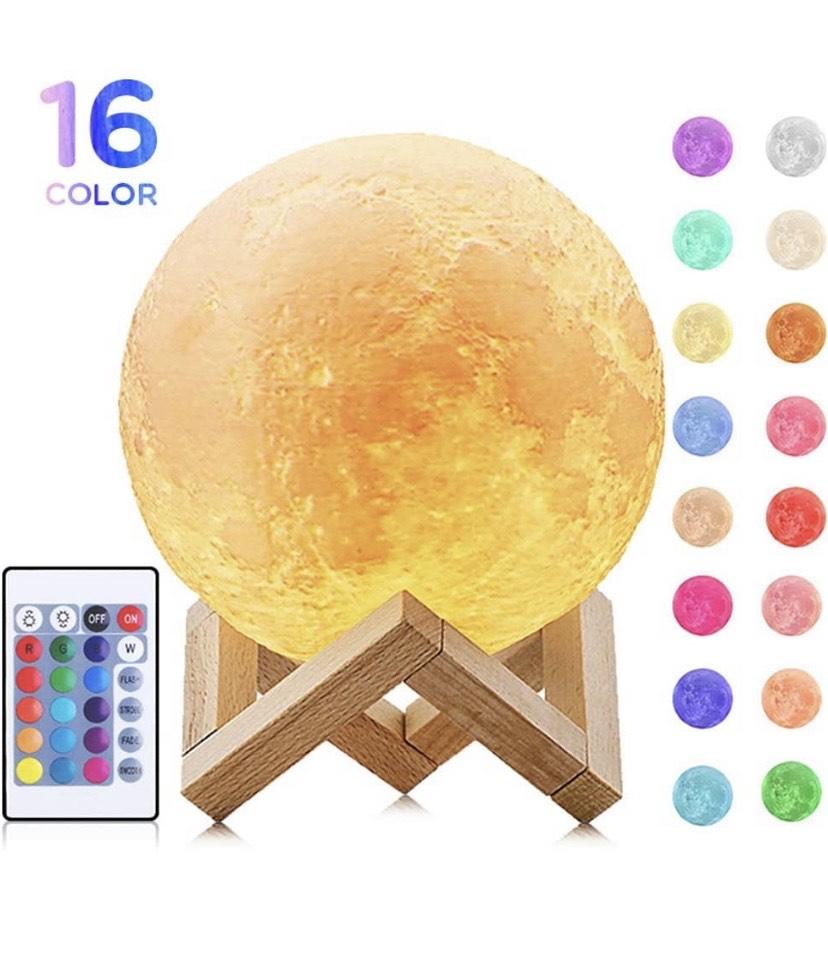 Lámpara de la Luna con 16 colores mágicos con USB
