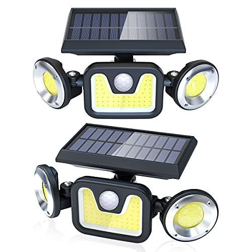 2X Luces solares 3 Modos y sensor de movimiento