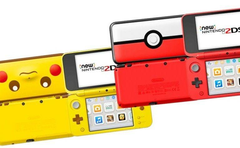 Nintendo 2DS XL Ediciones Pikachu, Pokeball, Negro-Turquesa, Blanco-Naranja