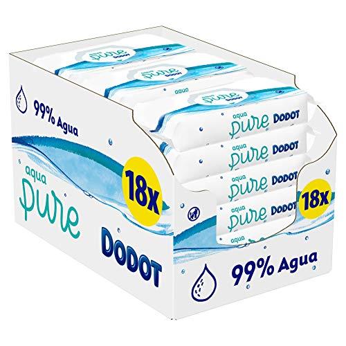 18 paquetes de Dodot Toallitas Aqua Pure [864 toallitas]