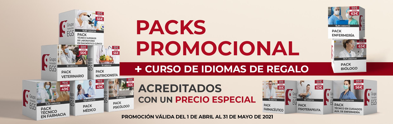 Pack de 3 cursos + 1 gratis de idiomas. Desde 49 euros.