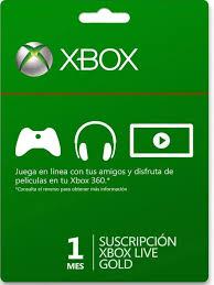 Xbox Live Gold 1 mes solo 2€ + 1 mes GRATIS