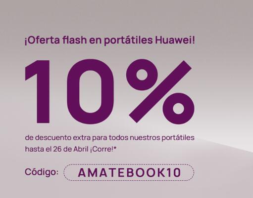 10% de descuento en portátiles Huawei