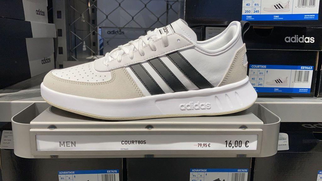 Zapatillas Adidas court80S en centro comercial la torre outlet, Zaragoza