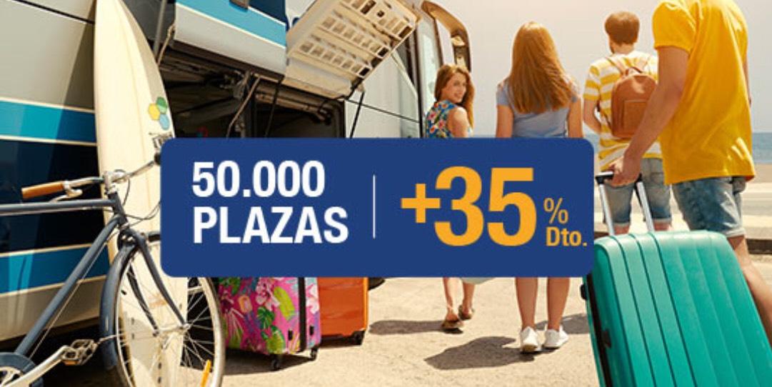 50.000 plazas con +35% descuento ALSA