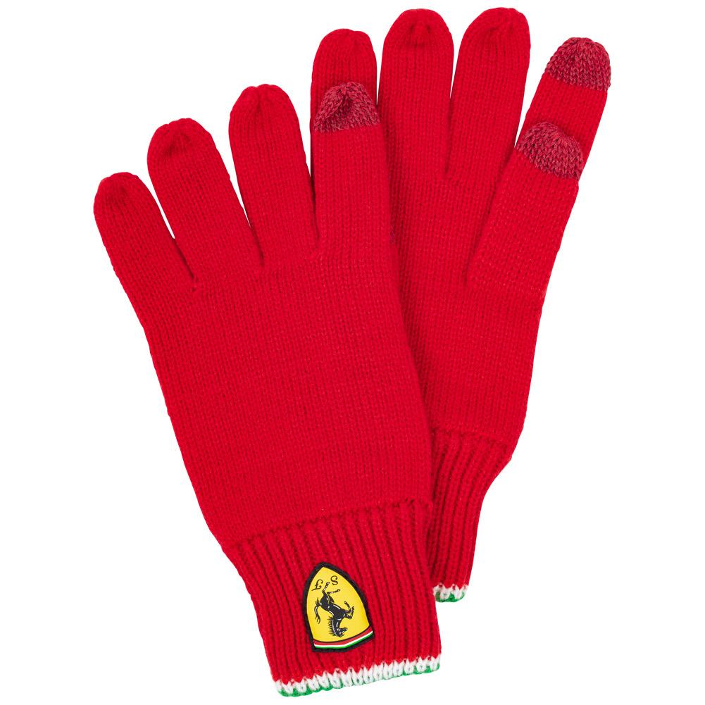 Scuderia Ferrari Guantes de punto para pantalla táctil