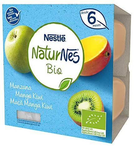 Nestlé Naturnes Bio Tarrina Manzana Mango Kiwi Pack de 24 tarrinas