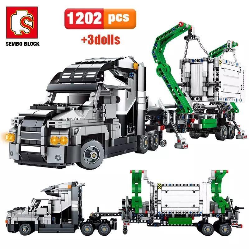 Camión de construcción 1202 piezas