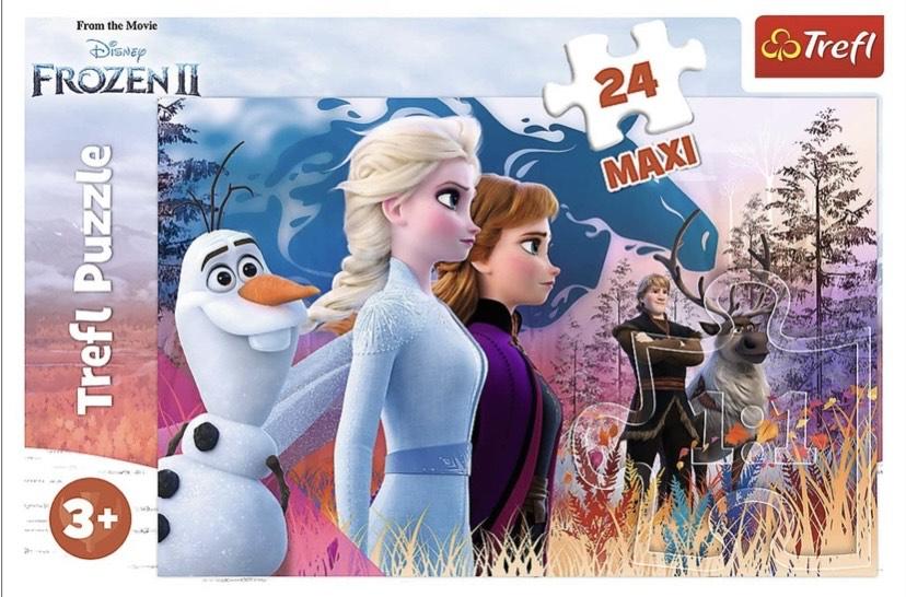 Trefl, maxipuzzle mágico de 24 Piezas Maxi Disney Frozen 2,