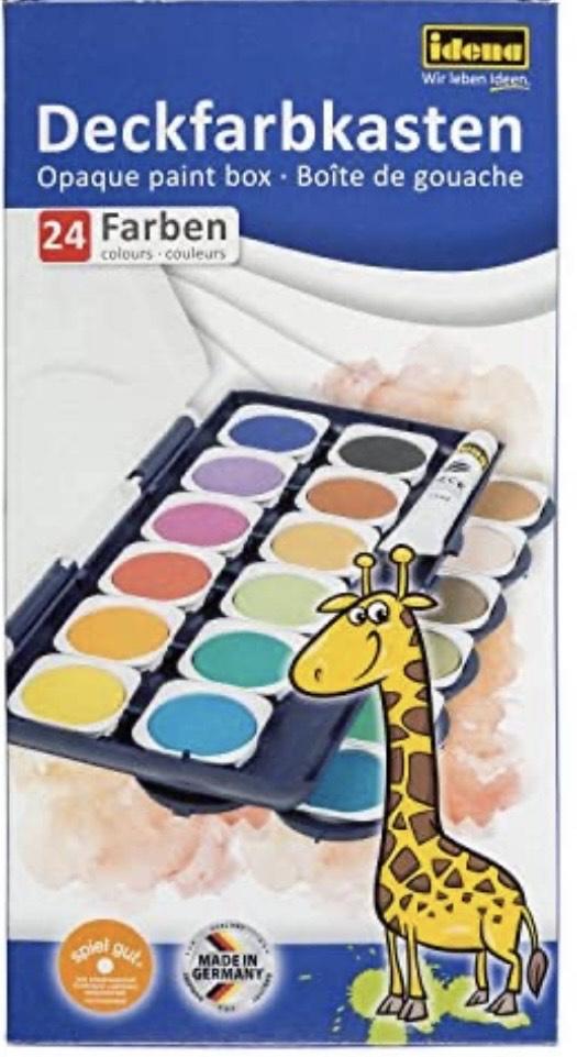 Acuarelas 24 colores de calidad + 1 tubo de blanco + 10 pinceles