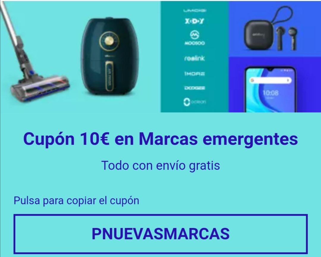 EBay - Cupón 10€ en Marcas emergentes