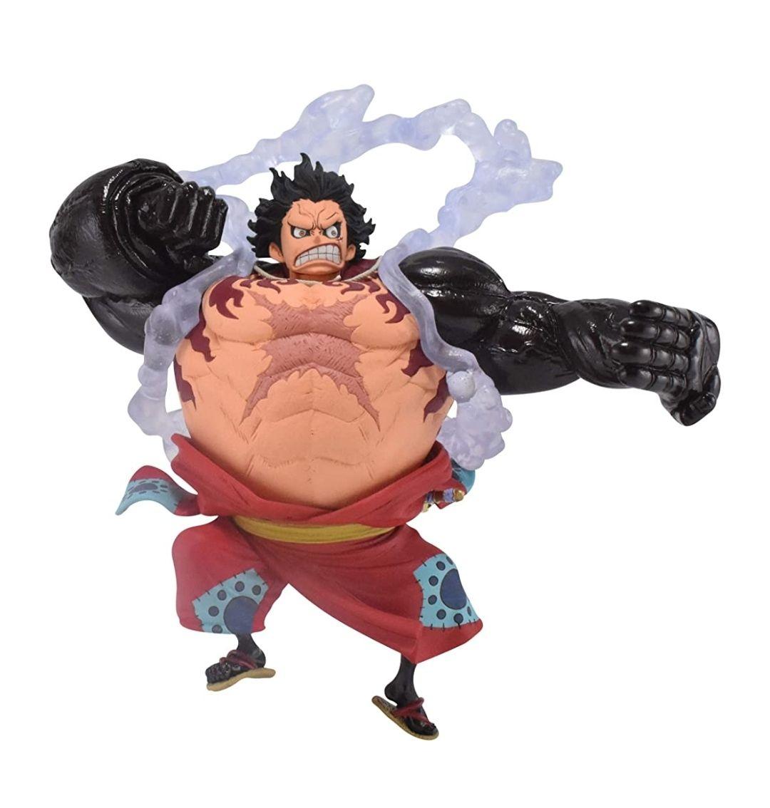 Figura Luffy gear 4 con vestuario de Wano