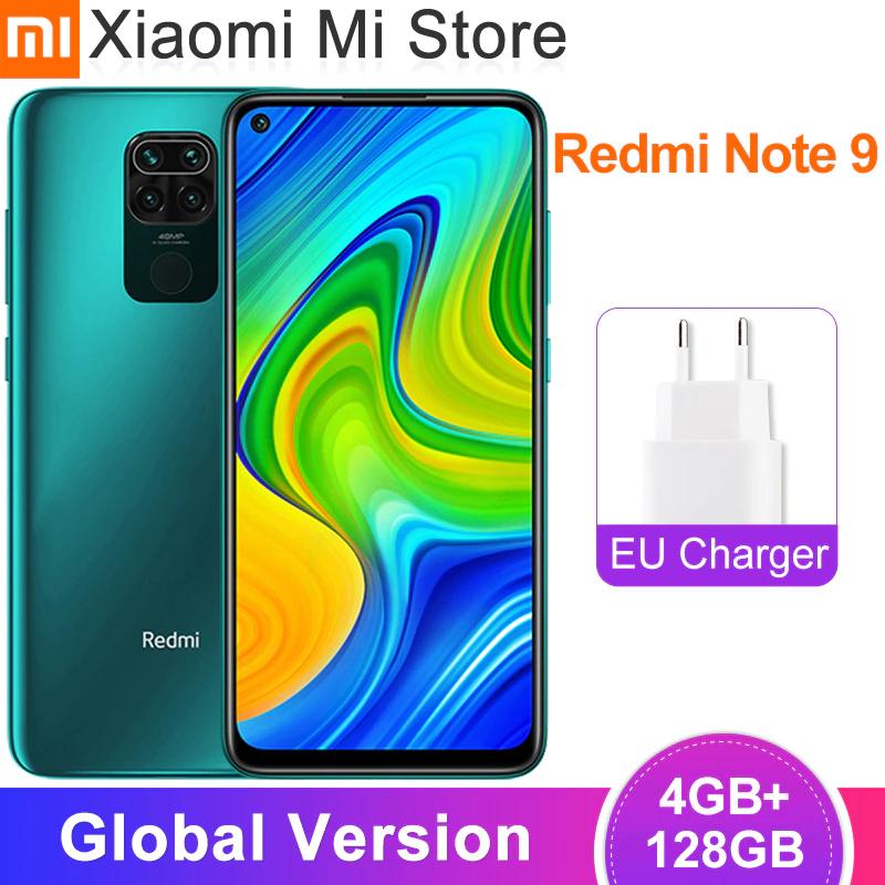 Smartphone Xiaomi Redmi Note 9 versión GLOBAL, 4GB RAM y 128GB ROM