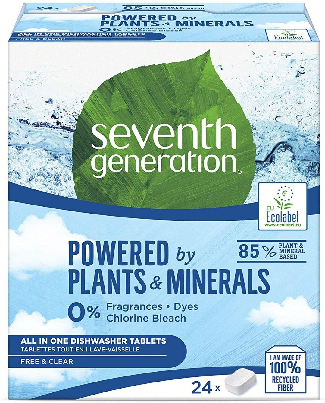 2 x 24 pastillas ecológicas para lavavajillas.