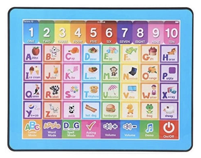 Tablet de juguete aprende inglés