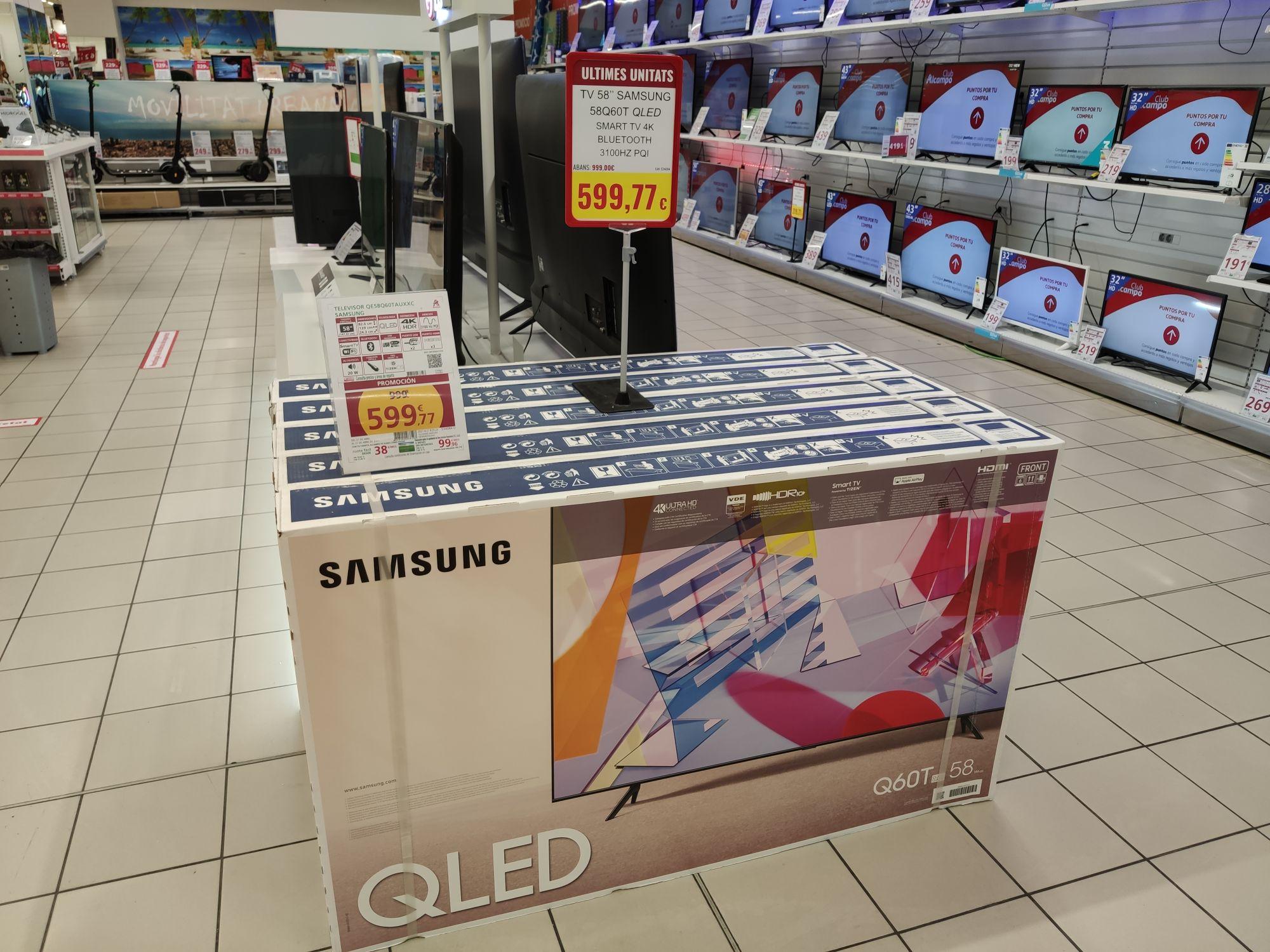 Televisor Samsung 58Q60T (Alcampo Mataró)