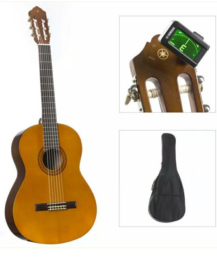 YAMAHA C40 PACKAGE STD Pack de Guitarra Clásica C40, Afinador YTC5 y Funda blanda.