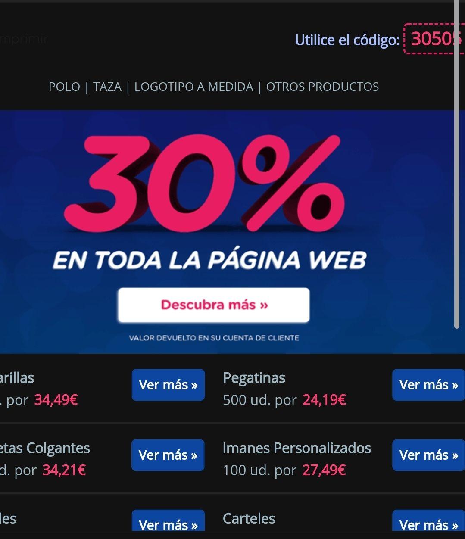 360imprimir 30% de descuento en toda la web