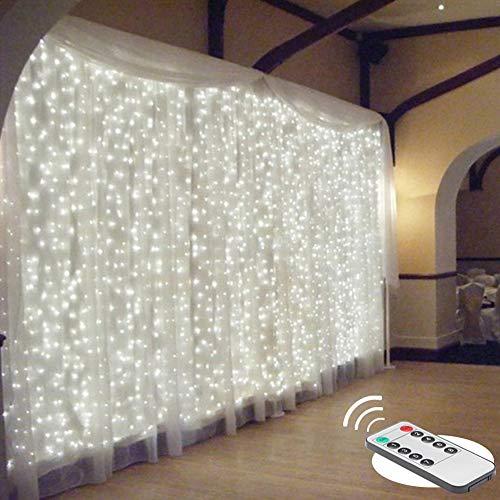 Luz cortina de 300ked 3x3m caído, control remoto