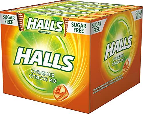 Halls Cítrico - Caramelo duro - Caja con 20 Sticks de 32 g