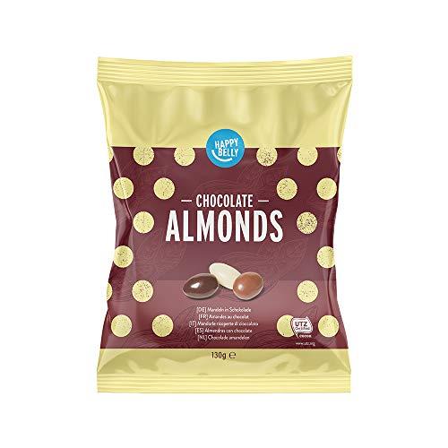 Chollo dulce: Almendras con chocolate: 6 Bolsas de 130g cada una - Happy Belly