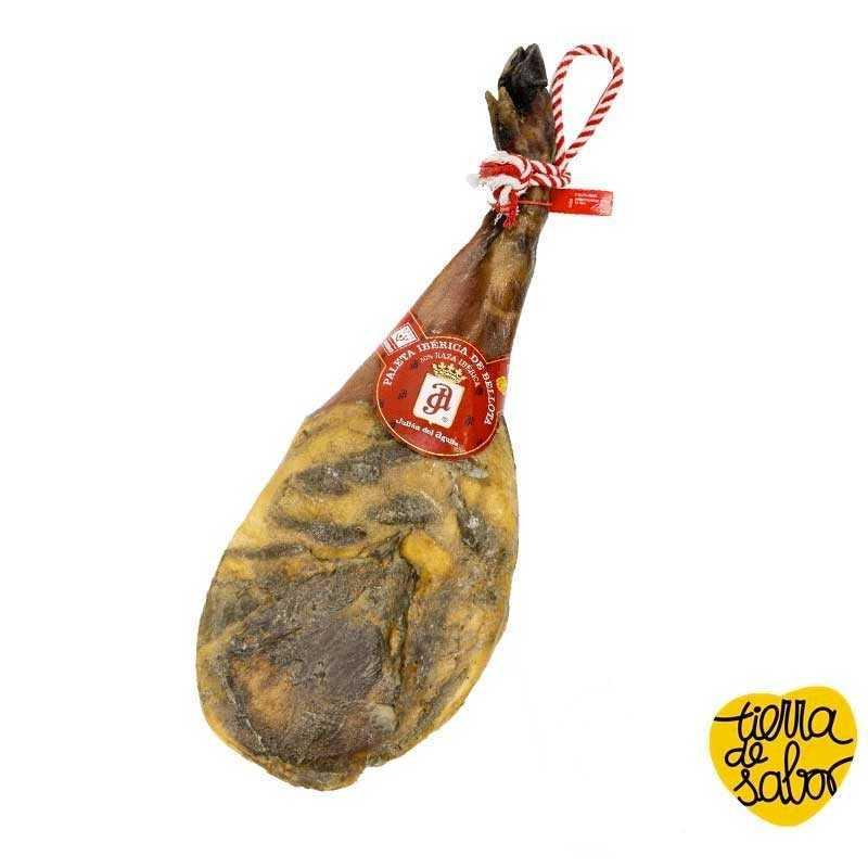 Paleta iberica de bellota 50%raza iberica 5-5'5kg brida roja