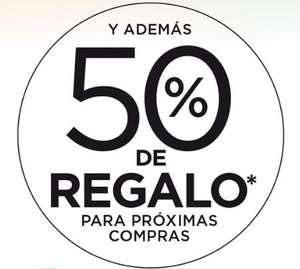 Nueva oferta: 50% de regalo en selección de productos de supermercado
