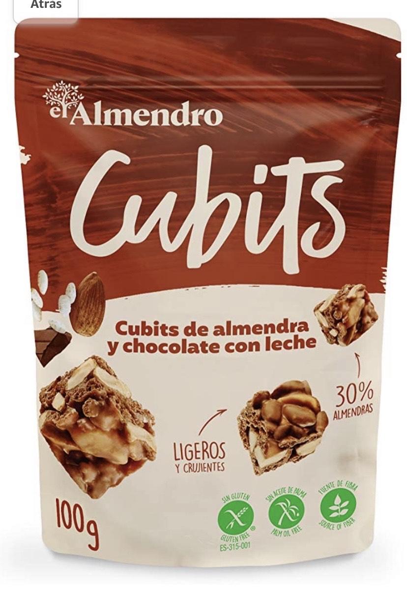 ubits de Almendra y Chocolate con Leche 100 gr - Sin Gluten - Sin Aceite de Palma