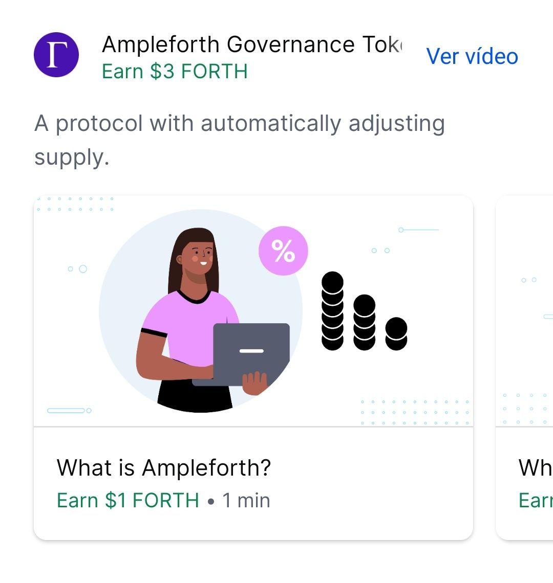 Gana 3$ gratis en Ampleforth con Coinbase