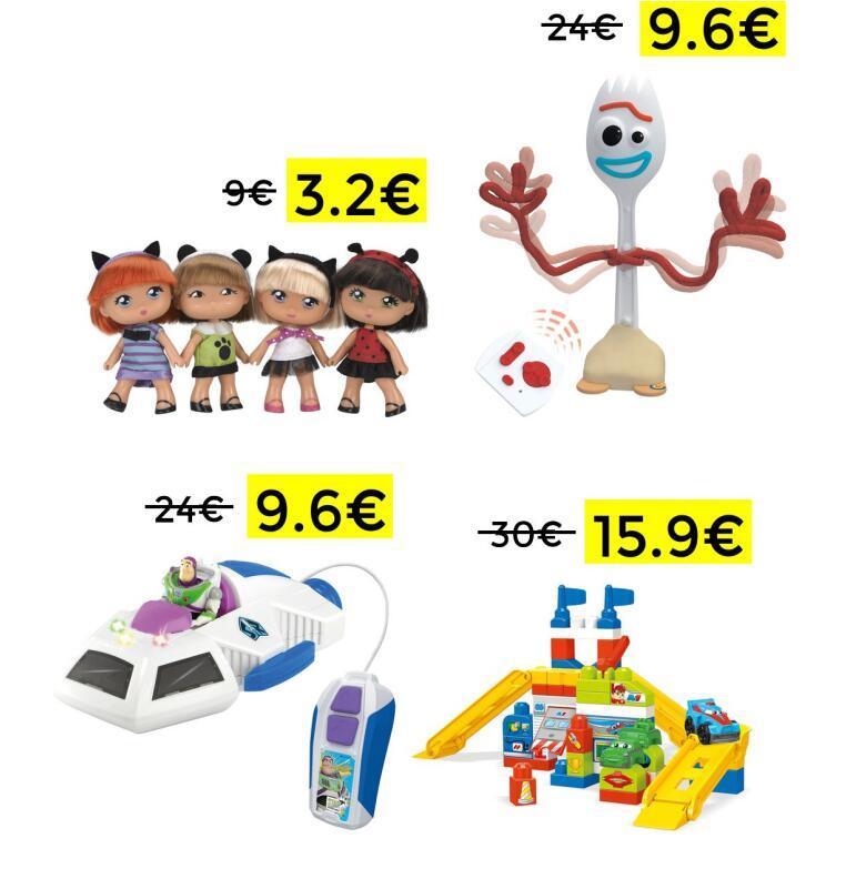 Preciazos en selección de juguetes