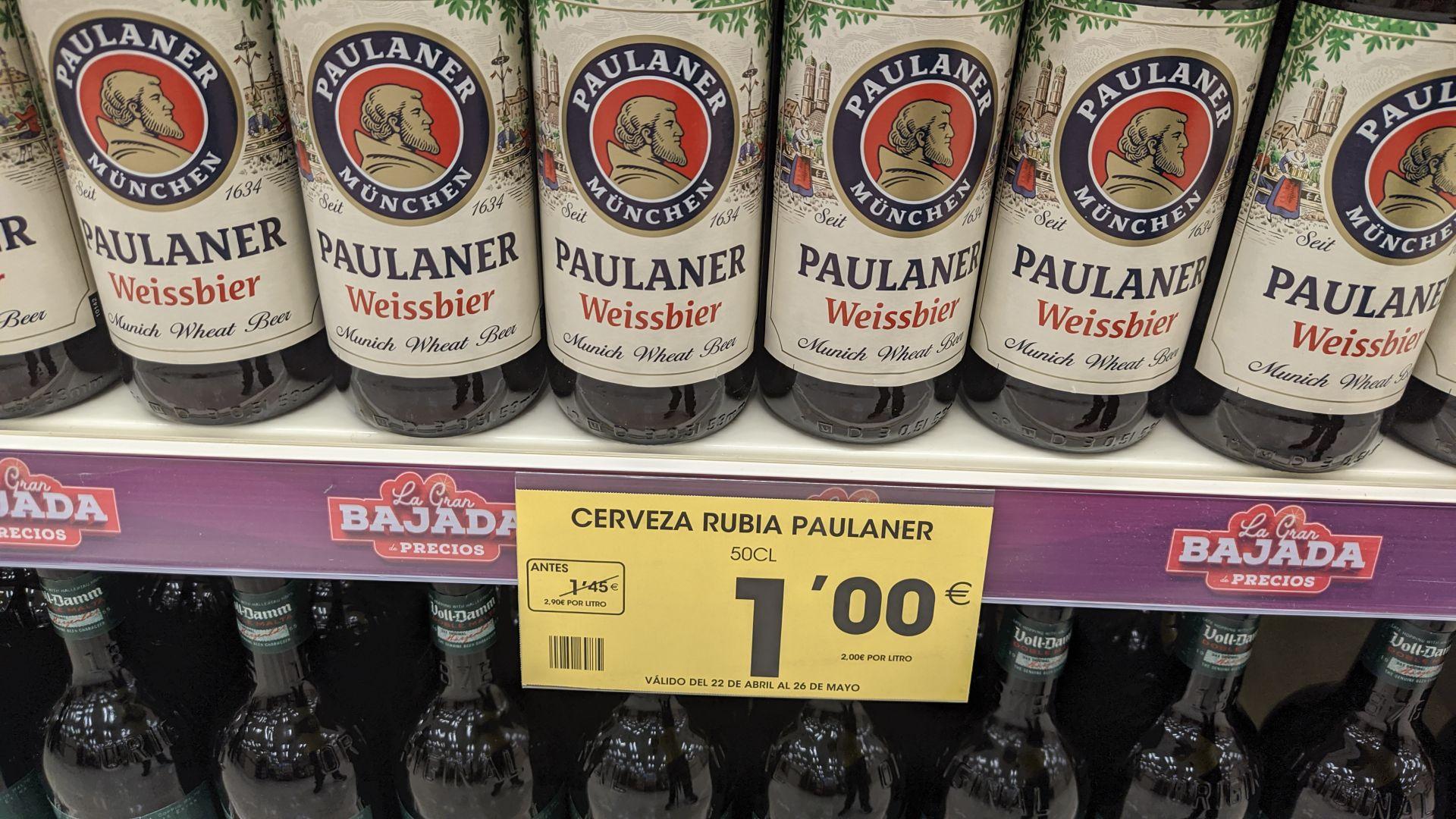 Paulaner 50cl por 1€