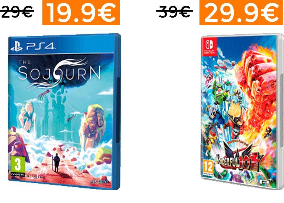 Rebajas en selección videojuegos para PS4, XBOX y Switch