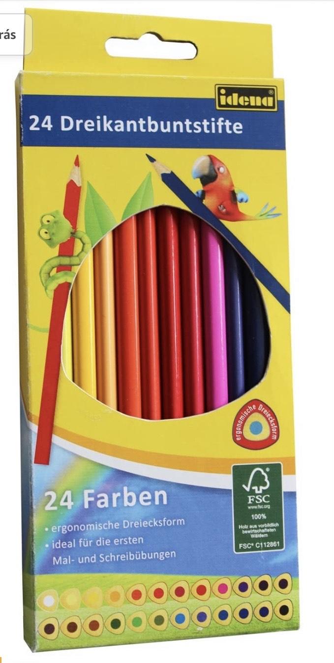 Estuche de cartón con 24 lápices de colores