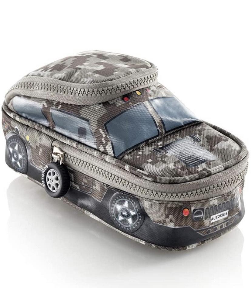 Estuche con doble compartimento, Camuflaje Cars,