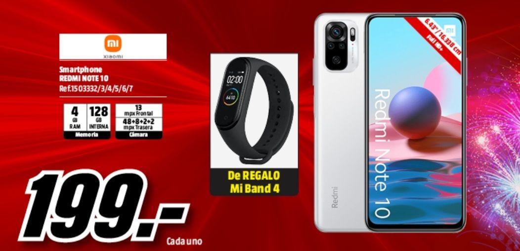 Xiaomi Redmi Note 10 + Mi Band 4