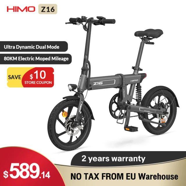 HIMO-bicicleta eléctrica plegable Z16