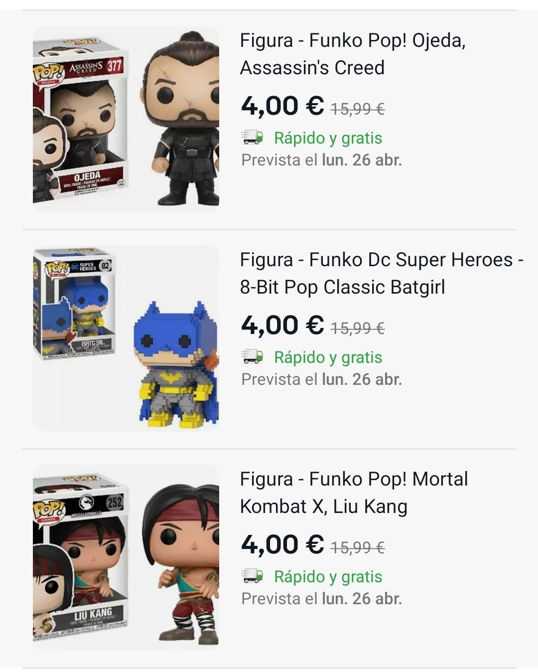 Recopilación Funko pops Mediamarkt Ebay