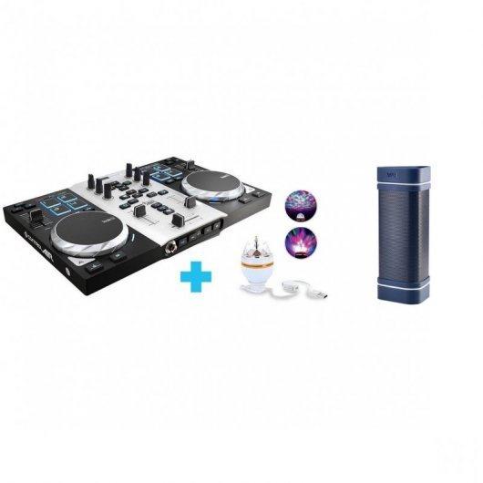 Hercules DJ Control AIR S Series Party Pack + Wae Outdoor 04 Plus Azul
