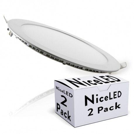 Pack 2 Placa de LEDs Circular 225Mm 18W