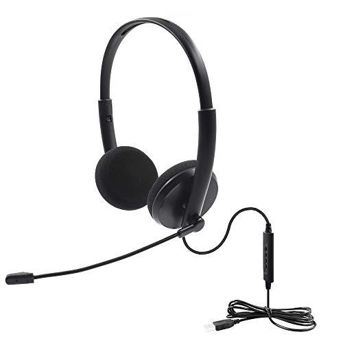 Auriculares USB para PC con micrófono,Cancelación de Ruido y Controles de Audio,