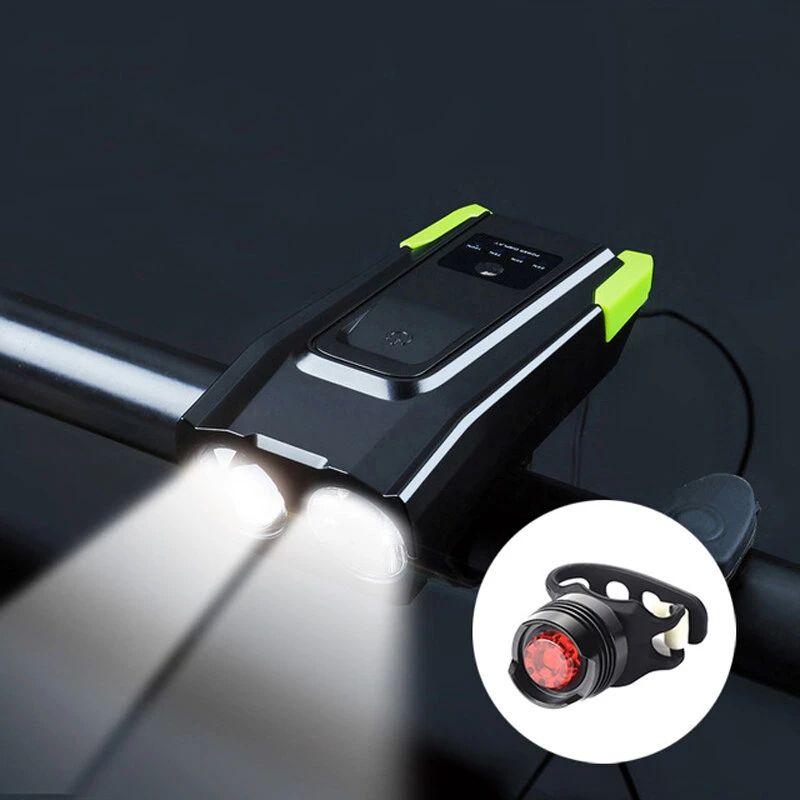 BIKIGHT 4000mAh 6 modos Bicicleta de inducción Delantero + Juego de luces traseras
