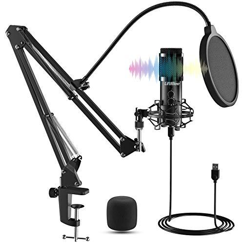 Micrófono Grabación Ajustable Suspensión Brazo de Tijera con Montaje de Choque