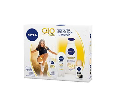 NIVEA Pack Body Q10 con loción reafirmante (1 x 400 ml), crema de manos (1 x 100 ml), desodorante roll on (1 x 50 ml) .......