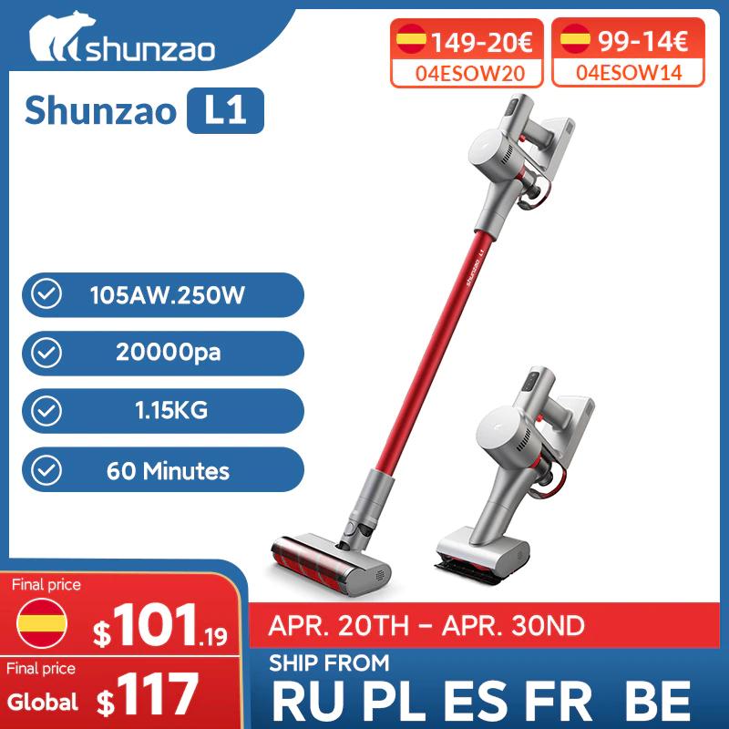 Shunzao Aspiradora de mano L1 de 20000Pa 105AW - Desde España
