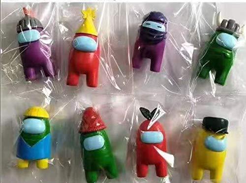 8 figuritas de 8-10cm cada una de Among Us con envío prime